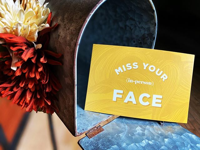 Who's (in person) face are you missing?  When we designed this postcard last F